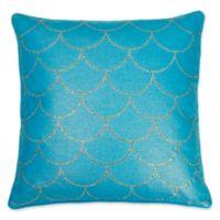 Thro by Mario Lorenz Asa Diamond Scale Throw Pillow in Caribbean Sea
