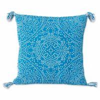 Thro by Mario Lorenz Kerra Dot Reversible 20-Inch Square Throw Pillow in Caribbean Sea