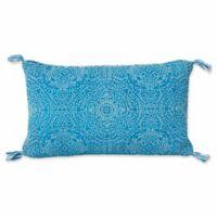 Thro by Mario Lorenz Kerra Dot Reversible 16-Inch x 26-Inch Throw Pillow in Caribbean Sea