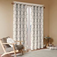 Madison Park Brooklyn 63-Inch Grommet Top Window Curtain Panel in Grey
