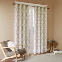 Madison Park Brooklyn 63-Inch Grommet Top Window Curtain Panel in Aqua