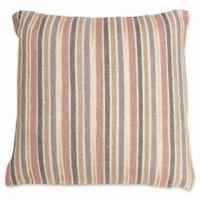 Thro by Mario Lorenz Susana Stripe Throw Pillow in Rose Smoke/Gold