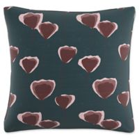Skyline Floral Square Throw Pillow in Turquoise