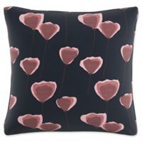 Skyline Floral Square Throw Pillow in Navy