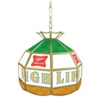 Miller High Life® 1-Light Stained Glass Billiard Lamp