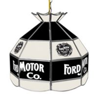 Vintage 1903 Ford Motor Co.® 3-Light Stained Glass Billiard Light
