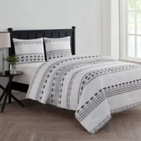 VCNY Home Azteca 2-Piece Twin XL Comforter Set in White/Black