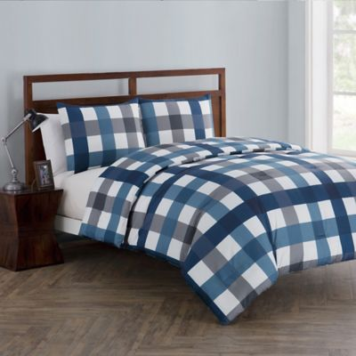 vcny home bradley 2piece reversible twin comforter set in navy