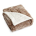 Great Bay Home Ceilo Reversible Throw Blanket in Taupe