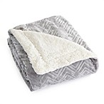 Great Bay Home Ceilo Reversible Throw Blanket in Pewter