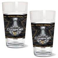 NHL Pittsburgh Penguins 2017 Stanley Cup Champions Pint Glasses (Set of 2)