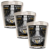NHL Pittsburgh Penguins 2017 Stanley Cup Champions Shot Glasses (Set of 3)