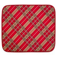 The Original™ Holiday Plaid Dish Drying Mat in Red