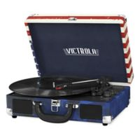 Victrola™ 3-Speed Bluetooth Portable Suitcase Record Player in Red/Blue