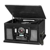 Victrola™ 3-speed 8-in-1 Bluetooth Record Player in Black