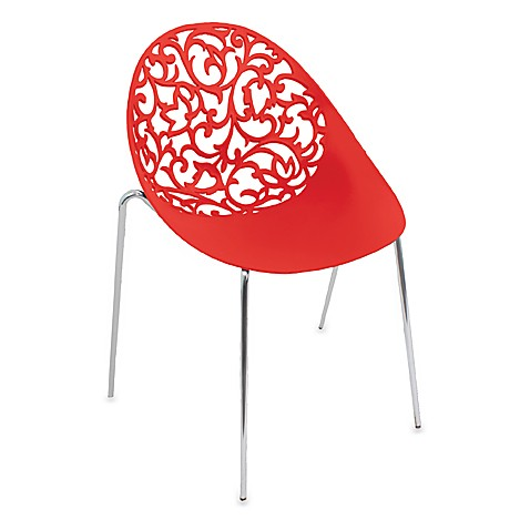 LumiSource Dahlia Chairs in Red (Set of 2)