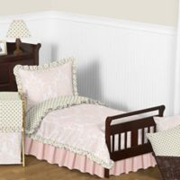Sweet Jojo Designs Amelia 5-Piece Toddler Bedding Set in Pink/Gold
