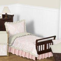 Sweet Jojo Designs Amelia 5-Piece Toddler Bedding Set in Pink/Gold
