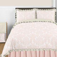 Sweet Jojo Designs Amelia 3-Piece Full/Queen Comforter Set in Pink/Gold