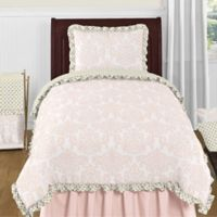 Sweet Jojo Designs Amelia 4-Piece Twin Comforter Set in Pink/Gold