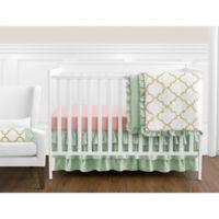 Sweet Jojo Designs Ava 11-Piece Crib Bedding Set in Mint/Coral