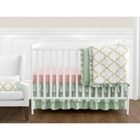 Sweet Jojo Designs Ava 11-Piece Crib Bedding Set in Mint/Coral