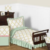 Sweet Jojo Designs Ava 5-Piece Toddler Bedding Set in Mint/Coral