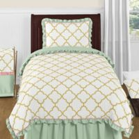 Sweet Jojo Designs Ava 4-Piece Twin Comforter Set in Mint/Coral