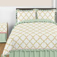 Sweet Jojo Designs Ava 3-Piece Full/Queen Comforter Set in Mint/Coral