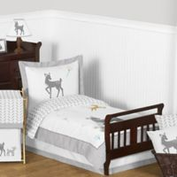 Sweet Jojo Designs Forest Deer 5-Piece Toddler Bedding Set in Grey/White