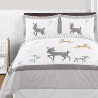 Sweet Jojo Designs Forest Deer 3-Piece Full/Queen Comforter Set in Grey/White