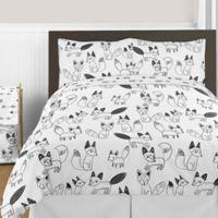 Sweet Jojo Designs Fox 3-Piece Full/Queen Comforter Set in Black/White