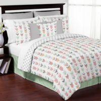 Sweet Jojo Designs Mod Arrow 3-Piece Full/Queen Comforter Set in Coral/Mint
