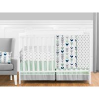 Sweet Jojo Designs Mod Arrow 11-Piece Crib Bedding Set in Grey/Mint