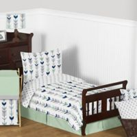 Sweet Jojo Designs Mod Arrow 5-Piece Toddler Bedding Set in Grey/Mint