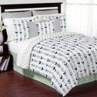 Sweet Jojo Designs Mod Arrow 3-Piece Full/Queen Comforter Set in Grey/Mint