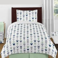 Sweet Jojo Designs Mod Arrow 4-PieceTwin Comforter Set in Grey/Mint