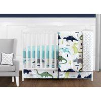 Sweet Jojo Designs Mod Dinosaur 11-Piece Crib Bedding Set in Turquoise/Navy
