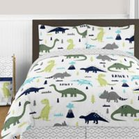 Sweet Jojo Designs Mod Dinosaur 3-Piece Full/Queen Comforter Set in Turquoise/Navy
