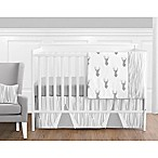 Sweet Jojo Designs Stag 11-Piece Crib Bedding Set in Grey/White