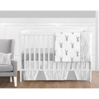 Sweet Jojo Designs Stag 11-Piece Crib Bedding Set in Grey/White