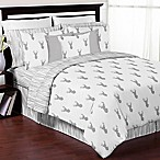 Sweet Jojo Designs Stag 3-Piece Full/Queen Comforter Set in Grey/White