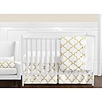 Sweet Jojo Designs Trellis 11-Piece Crib Bedding Set in White/Gold