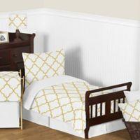Sweet Jojo Designs® Trellis 5-Piece Toddler Bedding Set in White/Gold