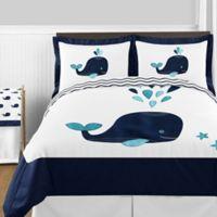 Sweet Jojo Designs Whale 3-Piece Full/Queen Comforter Set in Navy