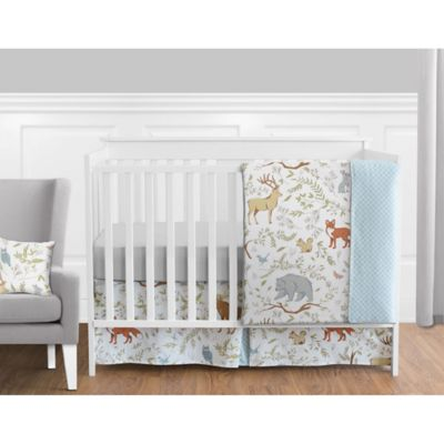 sweet jojo designs woodland toile 11 piece crib bedding set - Toile Bedding