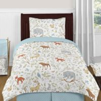 Sweet Jojo Designs Woodland Toile 4-Piece Twin Comforter Set