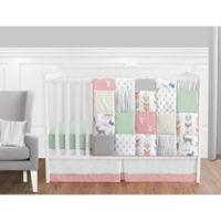 Sweet Jojo Designs Woodsy 11-Piece Crib Bedding Set in Coral/Mint