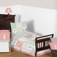 Sweet Jojo Designs Woodsy 5-Piece Toddler Bedding Set in Coral/Mint