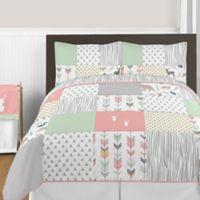 Sweet Jojo Designs Woodsy 3-Piece Full/Queen Comforter Set in Coral/Mint